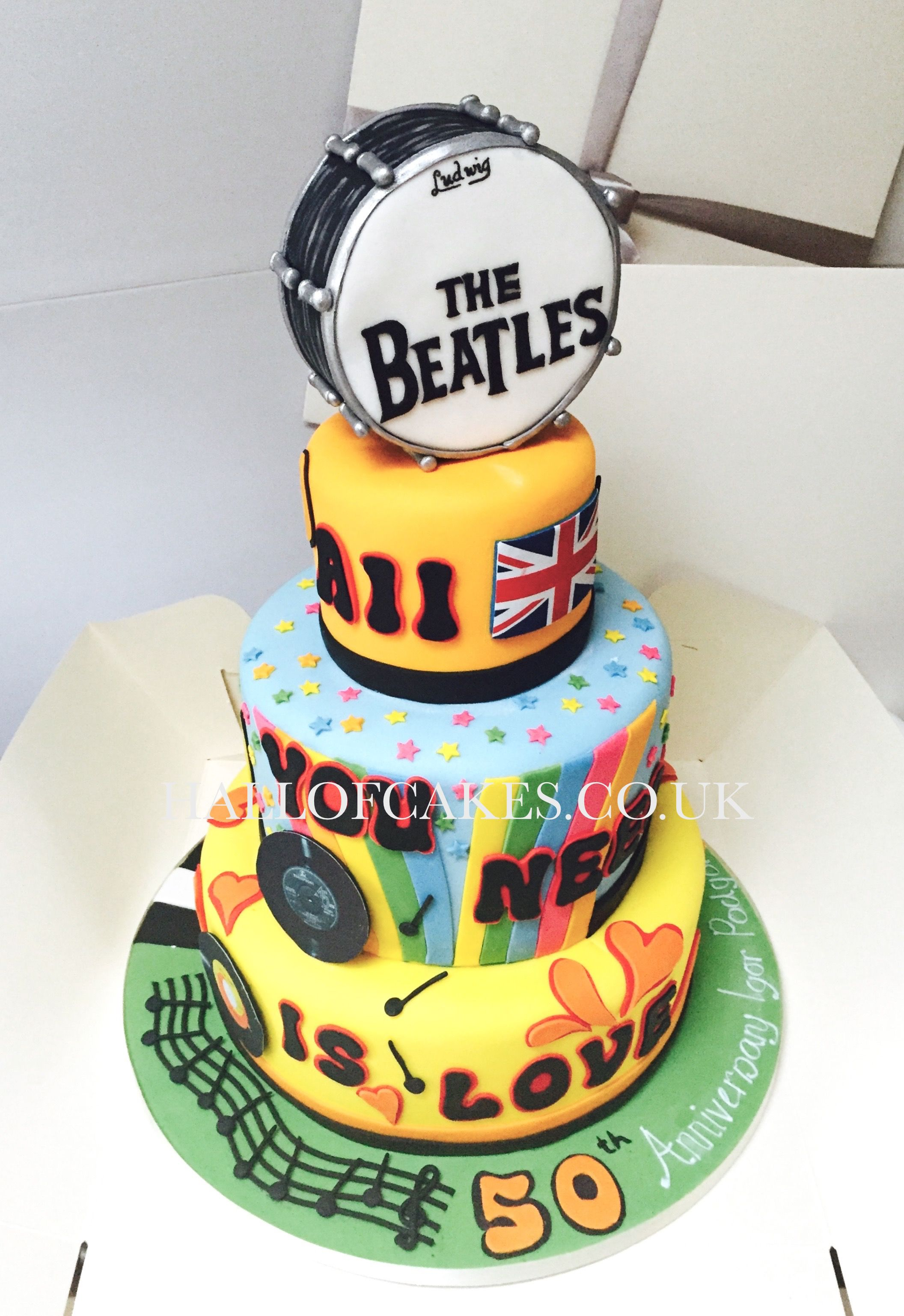 Beatles Birthday Cake by Hall of Cakes Leos 2nd Birthday Party