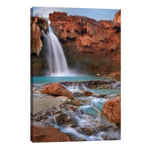 East Urban Home Leinwandbild Havasu Falls, Grand Canyon, Arizona III von Tim Fitzharris | Wayfair.de #grandcanyon