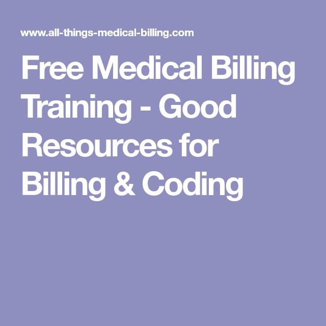 Free Medical Billing Training Good Resources For Billing Coding
