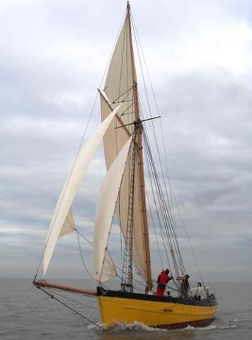 Gaff rigged cutter probably English  | Boats | Boat, Sailing