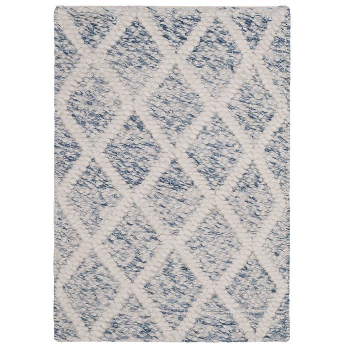 Billie Hand Tufted Ivory Blue Area Rug With Images