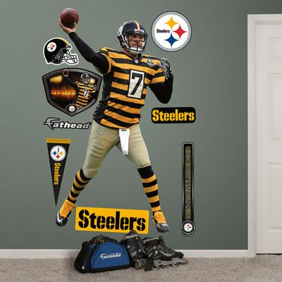NFL Pittsburgh Steelers Ben Roethlisberger - Throwback Wall Decal Sticker & NFL Pittsburgh Steelers Ben Roethlisberger - Throwback Wall Decal ...