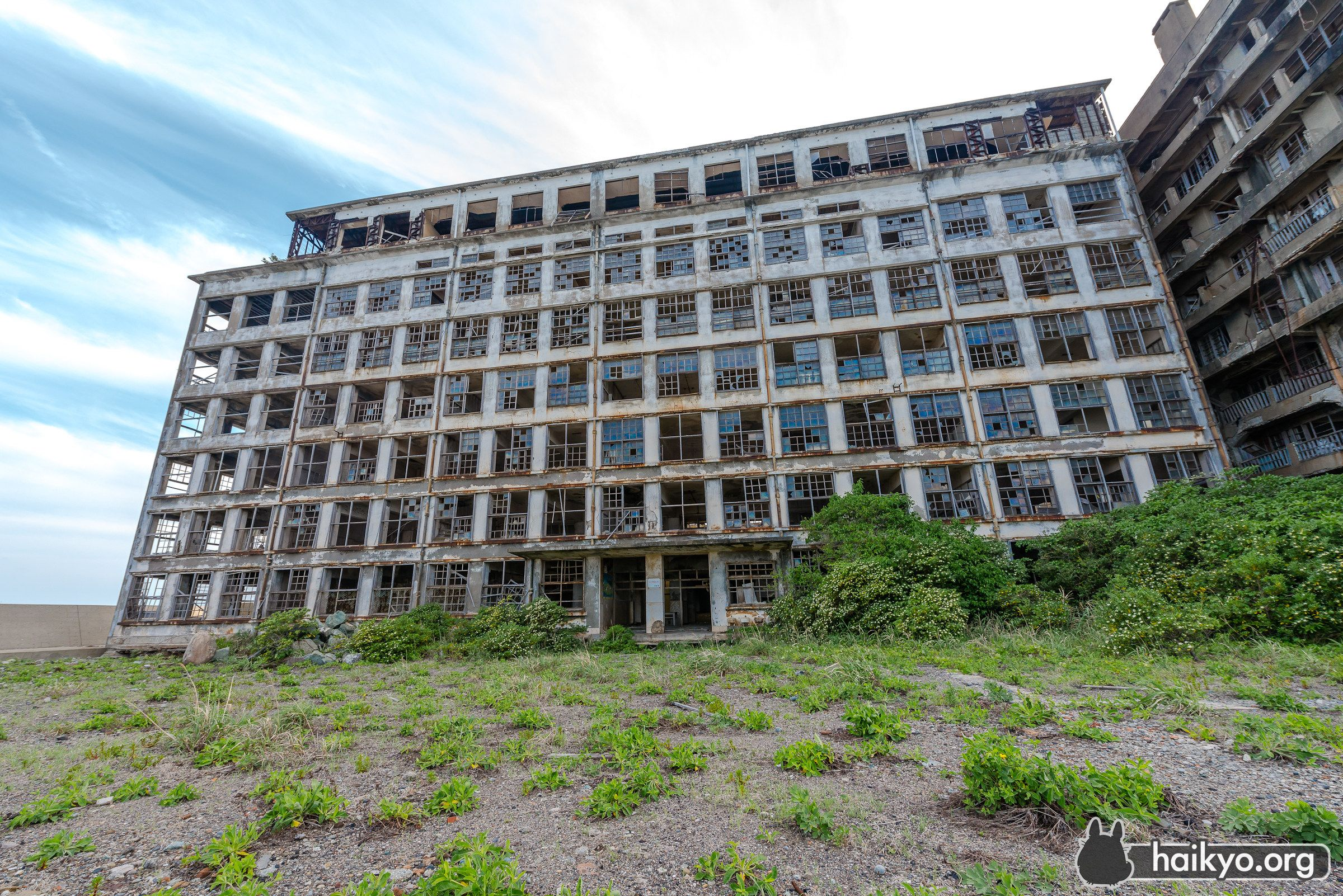 Gunkanjima school, .Japan's Hashima Island, commonly called Gunkanjima (or 'Battleship Island'), was populated from 1887 to 1974 as a coal mining facility and housed thousands of workers in its heyday. When coal mining declined, operations at the facility ceased and the island was abandoned.