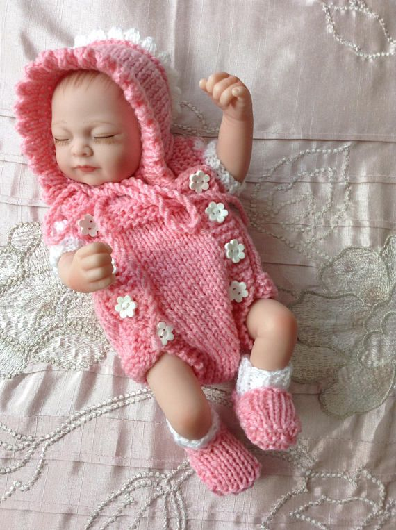 Hand Knitted Dolls Clothes To Fit 1011 Baby Dollreborn Baby