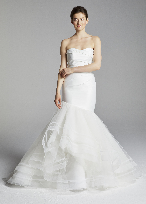 Monroe blue willow bride spring dramatic wedding dress