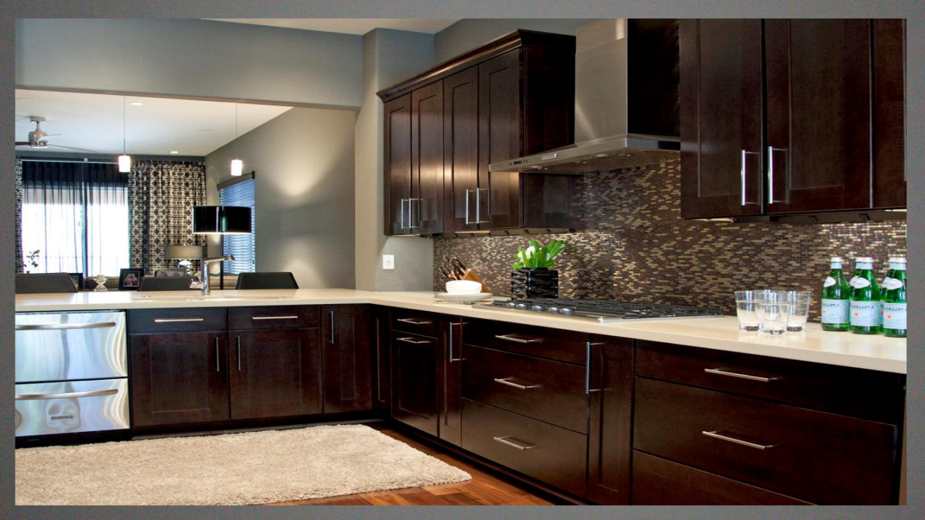 kitchen wall colors with dark cabinets   Google Search ...