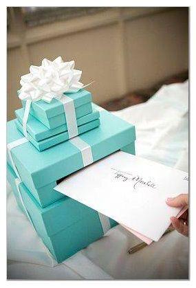 Tiffany Wishing Well Wedding Card Bowedding