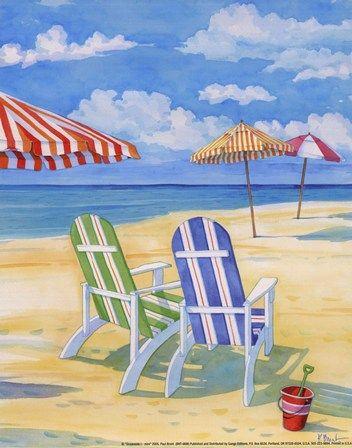 Paul Brent Oceanside I Mini Beach Art Framed Art Prints Painting