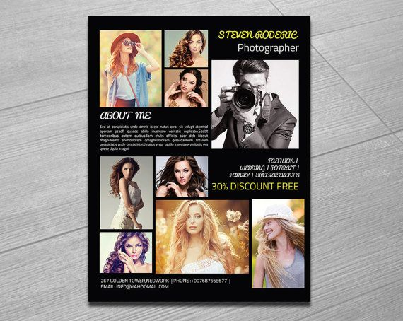 Photography Flyer Template Creative Flyer For By Templatestock