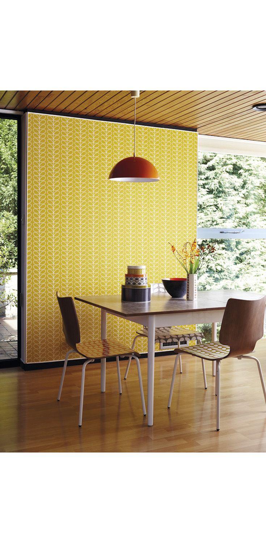 Healus orla kiely linear stem wallpaper by harlequin wallpaper