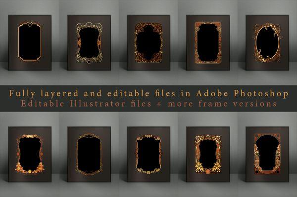 60 Vintage Frame Templates on Behance