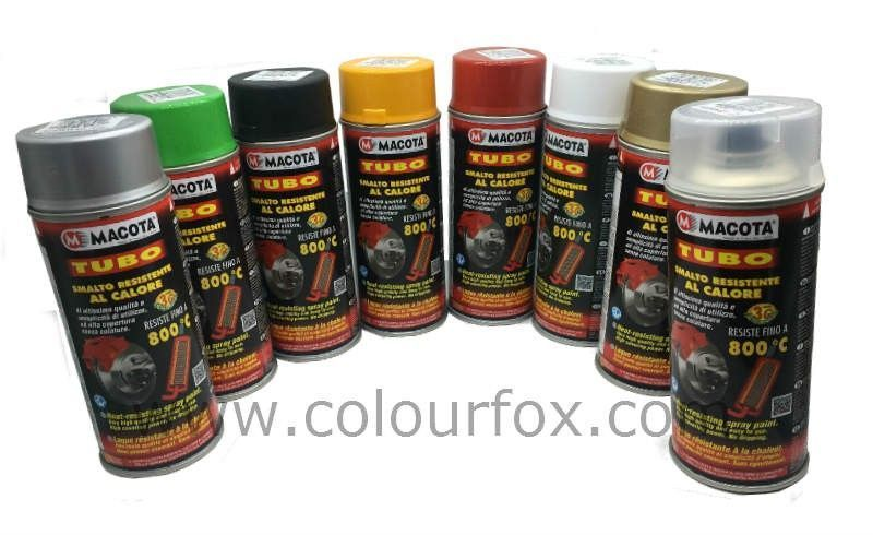 Pinturas Anticaloricas Macota Spray En Colores 400ml Alto Rendimiento Spray