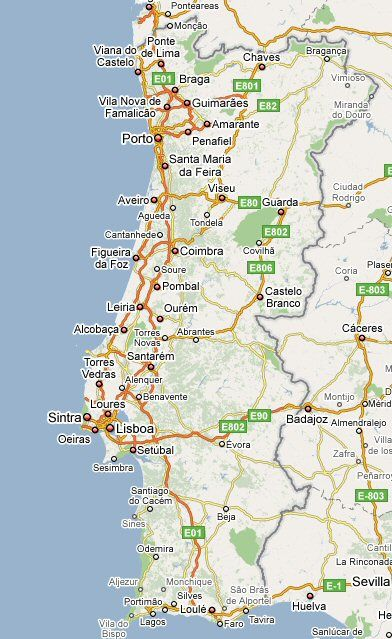Kaart Van Portugal Reizen Portugal Portugal Reizen