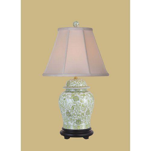 Lemon grass one light porcelain jar table lamp east enterprise shaded table lamps lamps