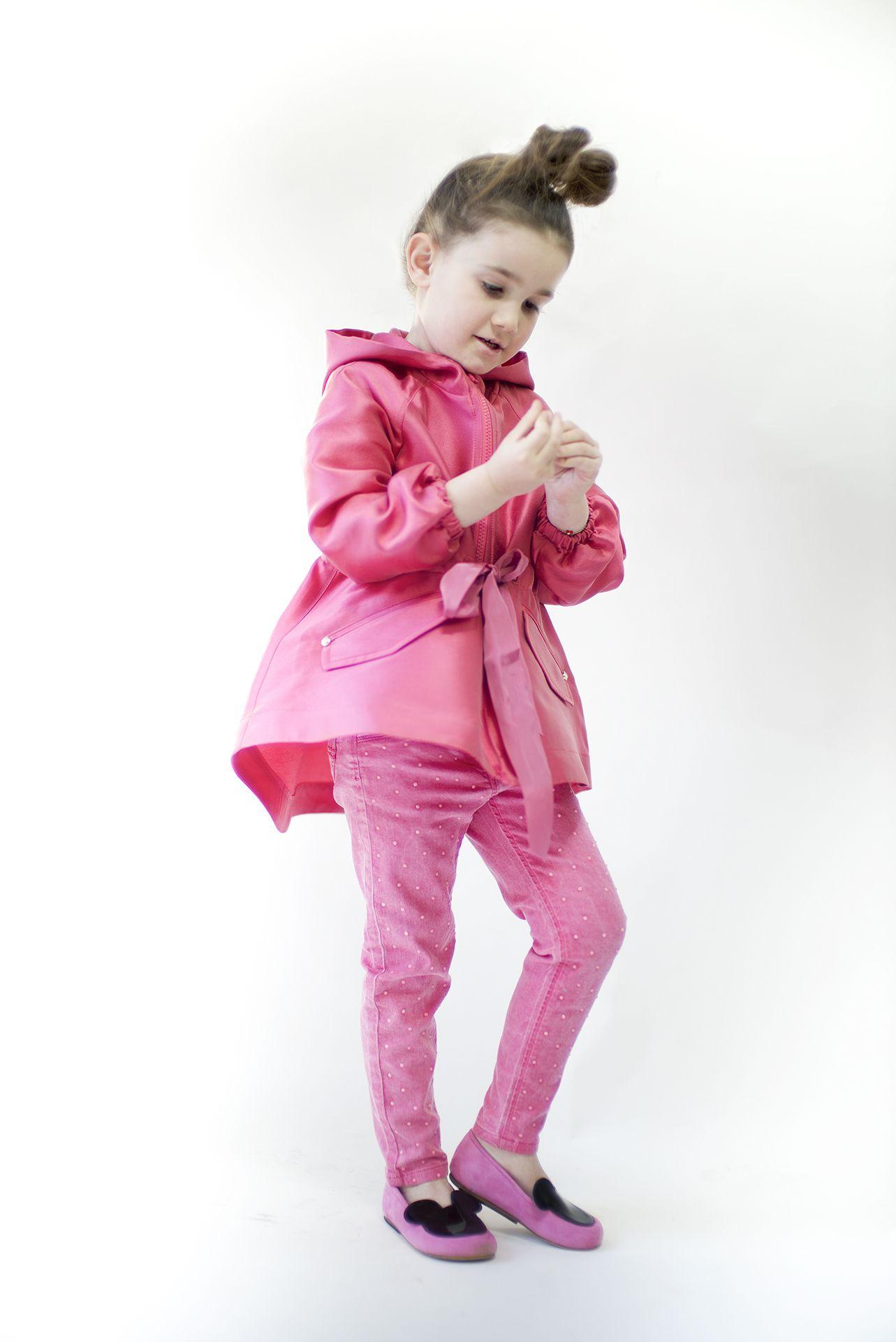 e72beb062 MiMiSol Satin Raspberry Parka Jacket and Miss Mouse EFVVA shoes ...