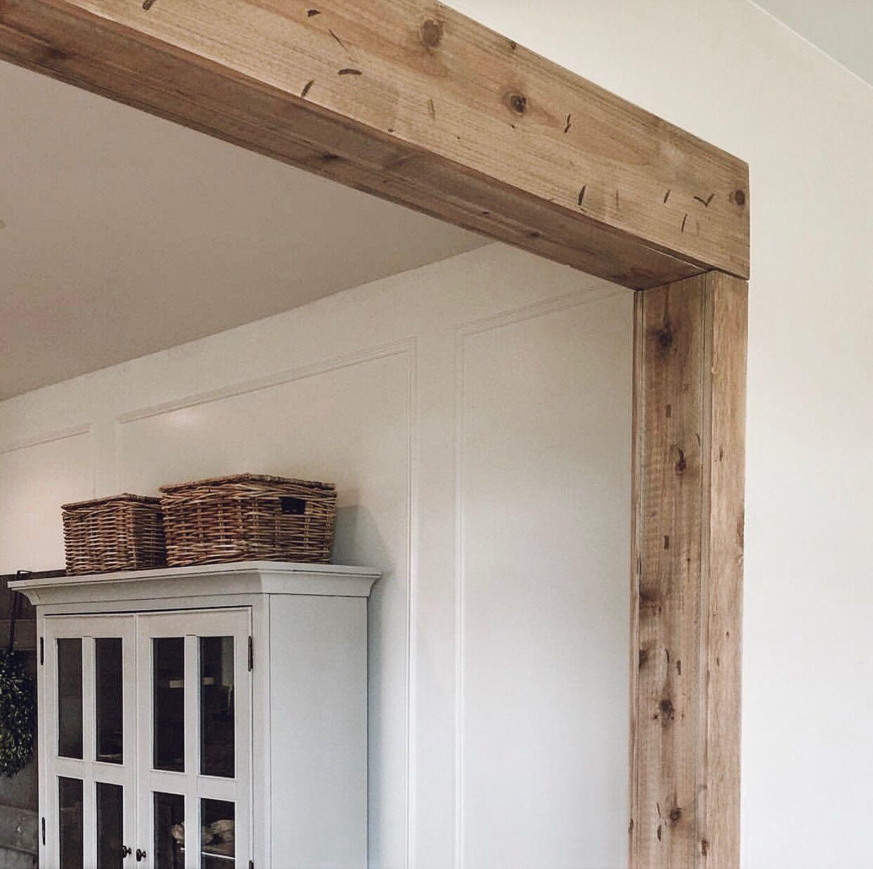 Faux Barnwood Beam Doorway 100 Diy Projects Wood Beam Ceiling Faux Wood Beams Faux Beams
