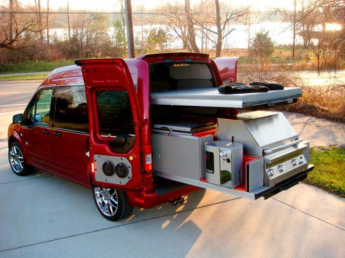Performance Ford Bountiful >> STRANGE SPORTS EVENTS - EXTREME TAILGATING EQUIPMENT AND TRUCKS - VAN WITH PULL-OUT BBQ GRILL ...
