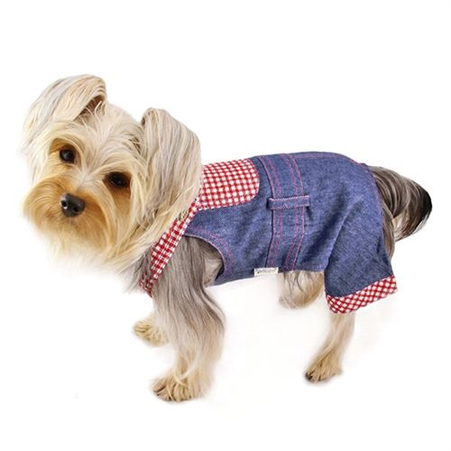 Soft Denim and Checkered Overall- Apparel - Outfits & Tracksuits Posh Puppy Boutique