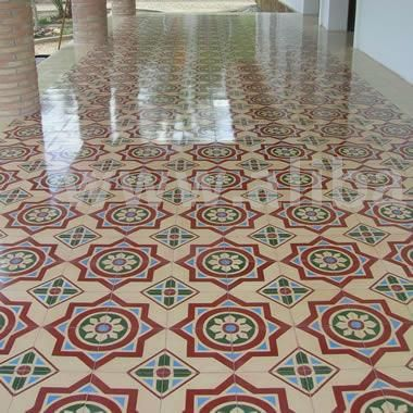 mosaico hidraulico  Proyecto arabe  Azulejos Suelos y