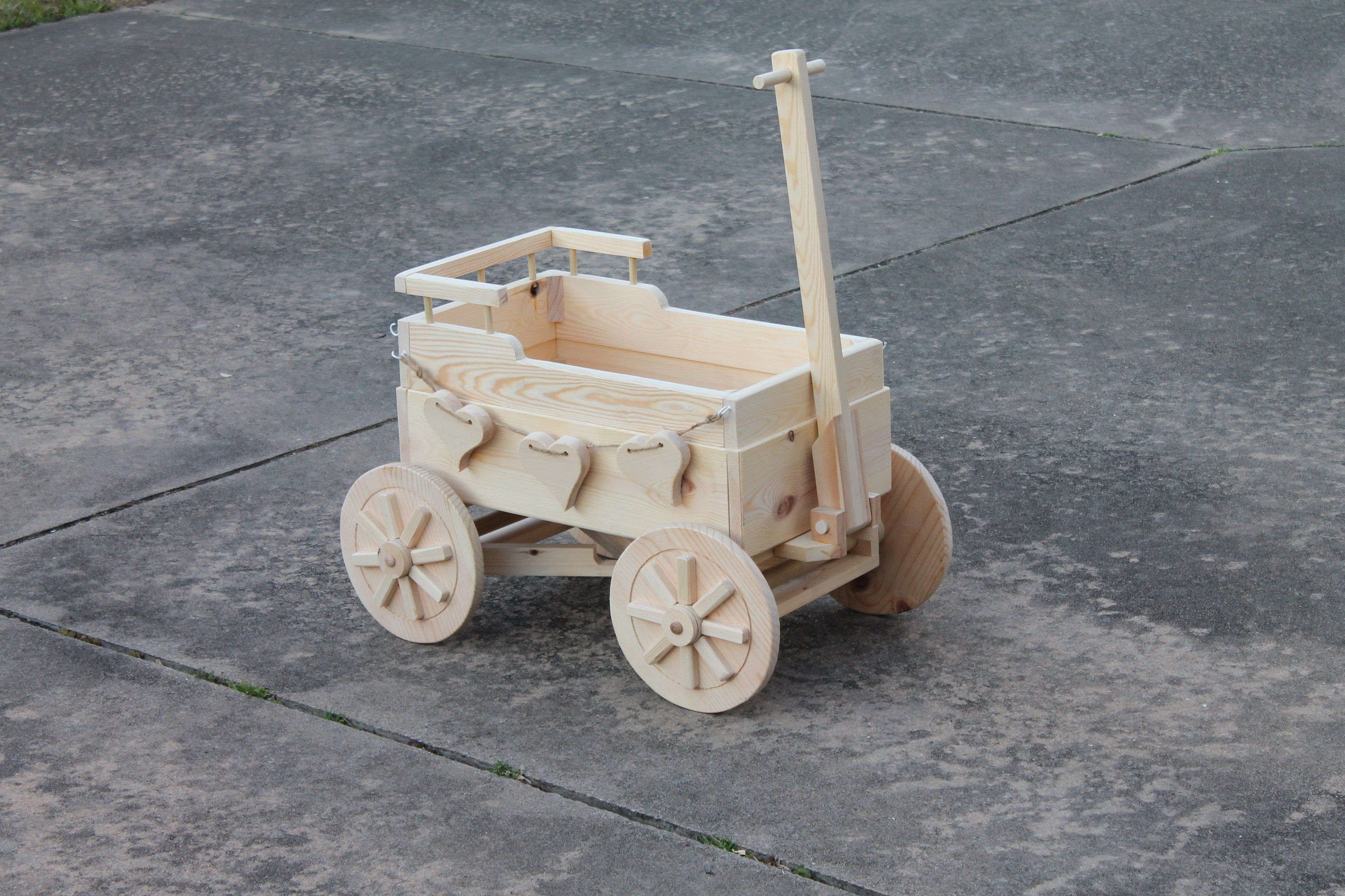 Wooden Wagon For Wedding For Babies 4 Yrs And Younger Ring Etsy Wooden Wagon Wagon For Wedding Newborn Baby Props