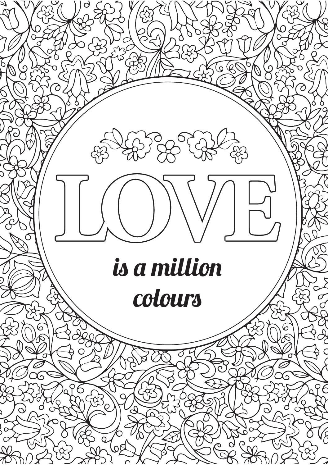 Colour your world   Love coloring pages, Quote coloring ...