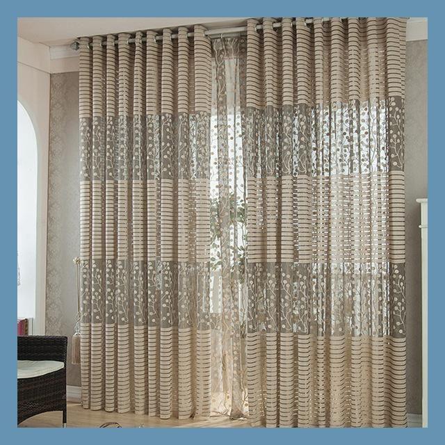 3d curtains for Window cortinas para sala de luxo translucids - ideas de cortinas para sala