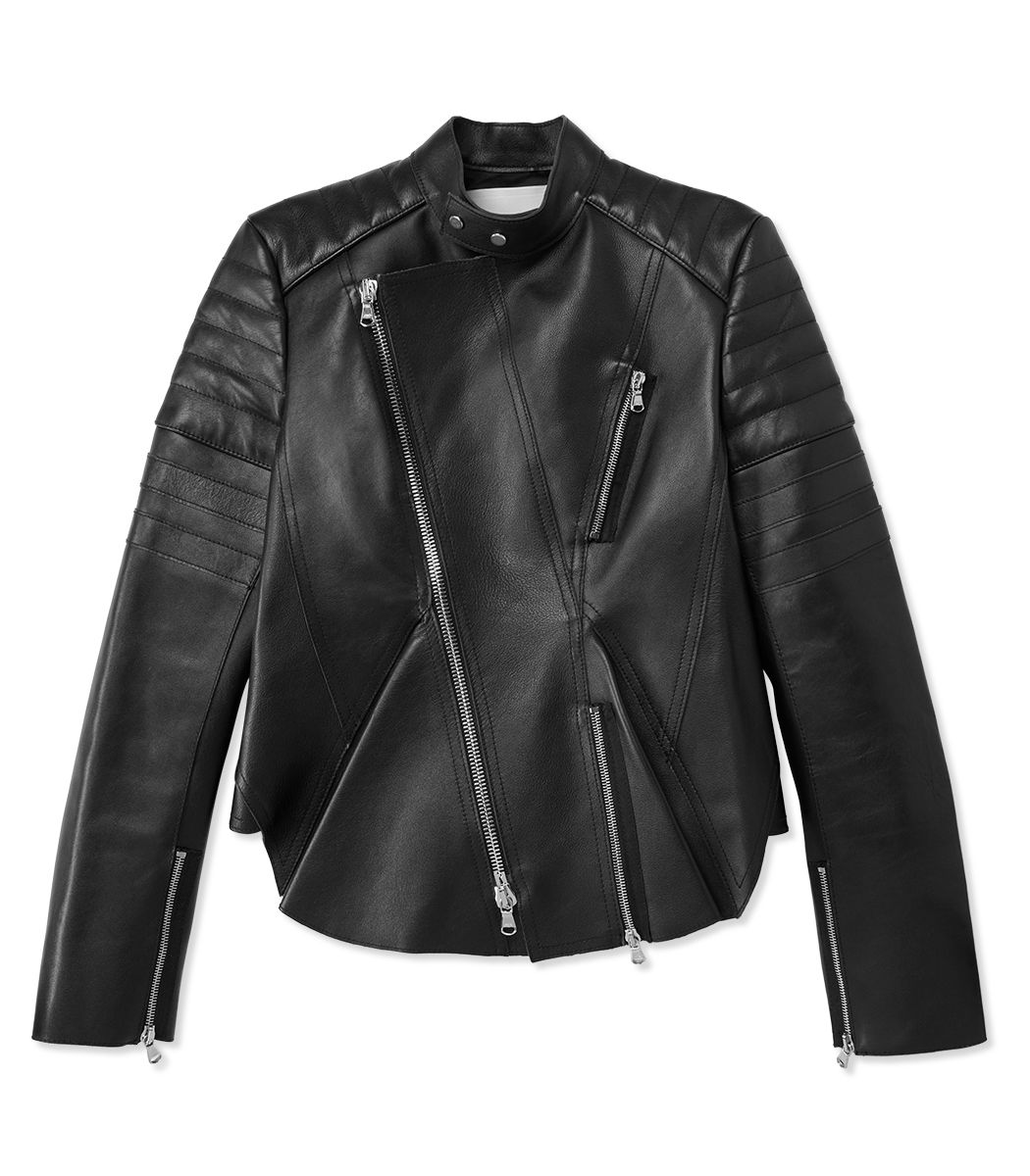 #ShopBAZAAR Editors' Most Wanted – 3.1 Phillip Lim Black Moto Leather Peplum Jacket
