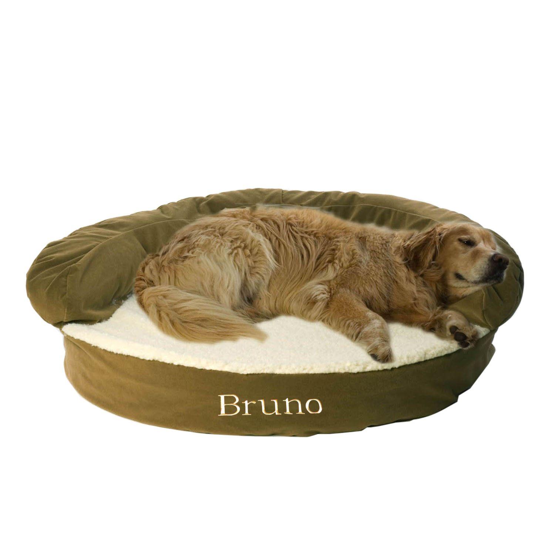 Carolina Pet Company Sage Green Orthopedic Bolster Dog Bed