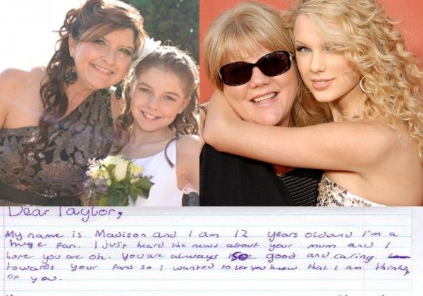61dc6c44a197 Dear Taylor. My mum had cancer too. Stay strong