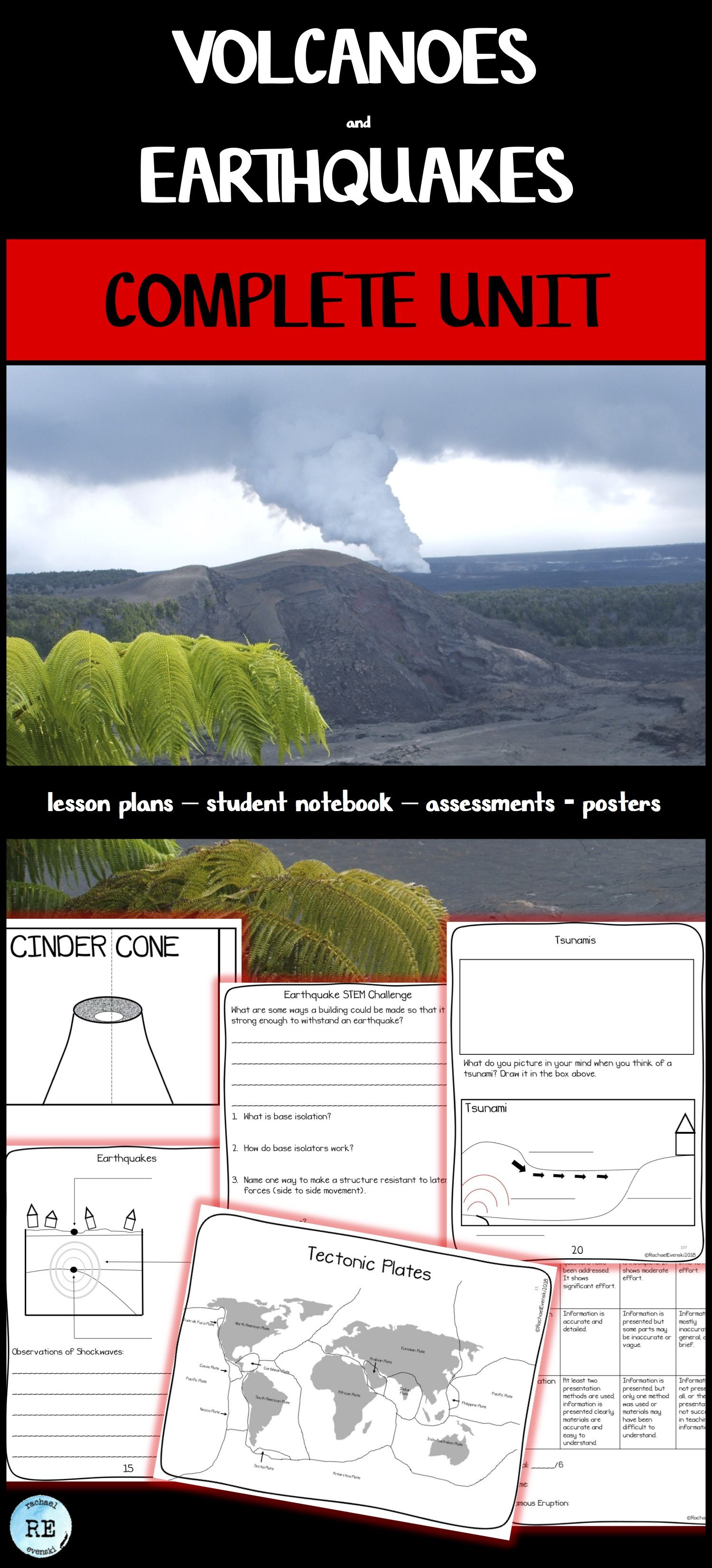 Volcanoes And Earthquakes A Complete Unit