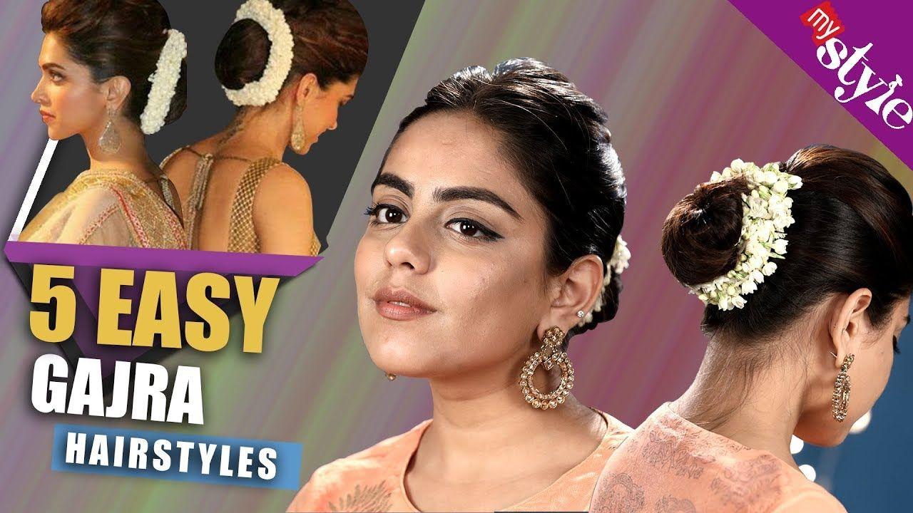 11 Easy Gajra Hairstyles  Easy bun hairstyles, Bun hairstyles