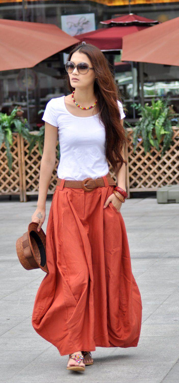 25 skirt maxi outfits ideas photos