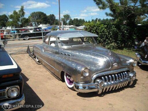 Bare Metal With Metal Flake And Clear Coats Hot Rods Cars Lowrider Cars Buick Cars