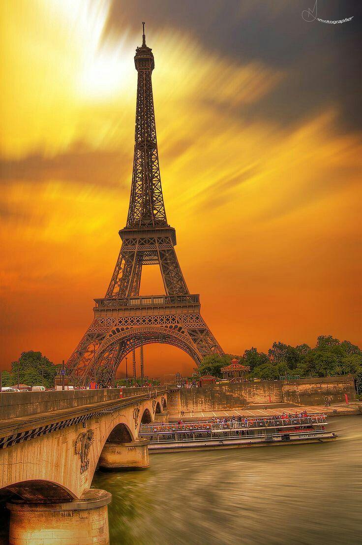 Eiffel Tower Paris France Photo Paysage Magnifique Paysage Photographie De Paris