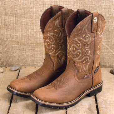 George Strait All Brown Square Toe Boot