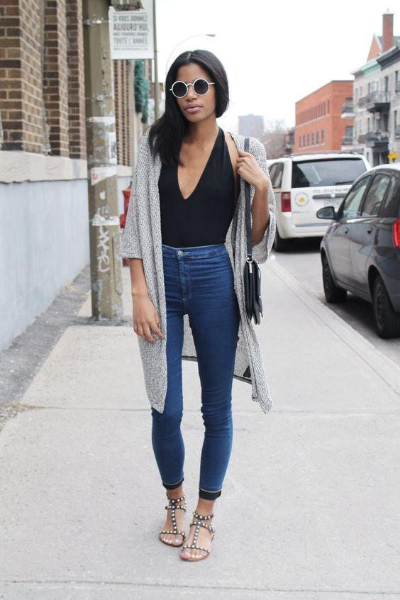 How to wear high waisted denim jeans