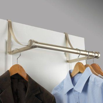 For Guest Or Coat Closet Amazon Com Over The Door Metal Closet Rod Champagne To Dry More Clothes Closet Rod Over The Door Hanger Over The Door Hooks