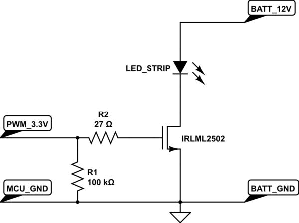 Schematic Microcontrollers Circuit Led Strip