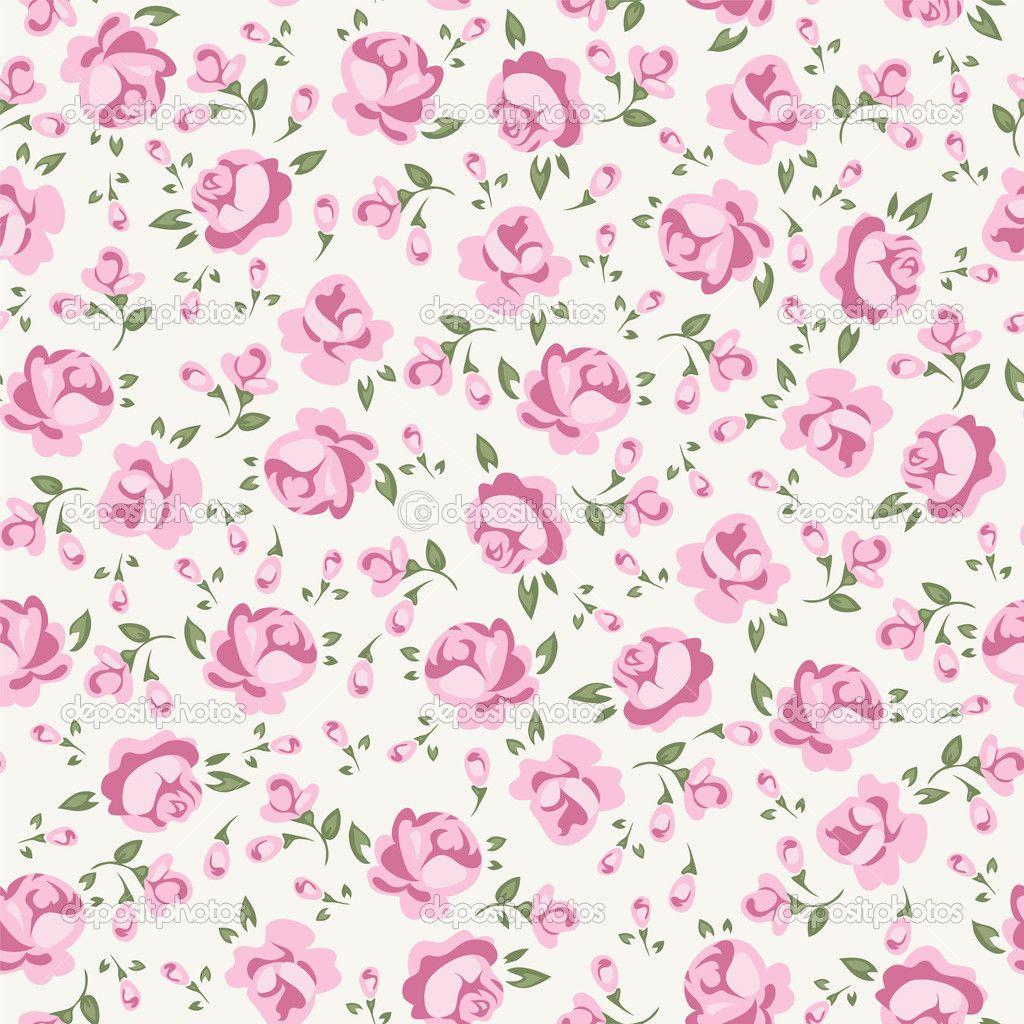 Shabby chic rose stock vector 14499451 fashion - Telas shabby chic ...