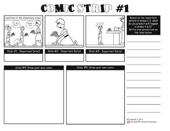 Prediction Comic Strips A Focused Reading Skills Activity
