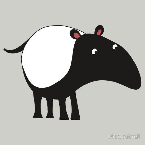 Tapir Illustration Google Search Animal Drawings Animal Illustration Baby Animal Drawings