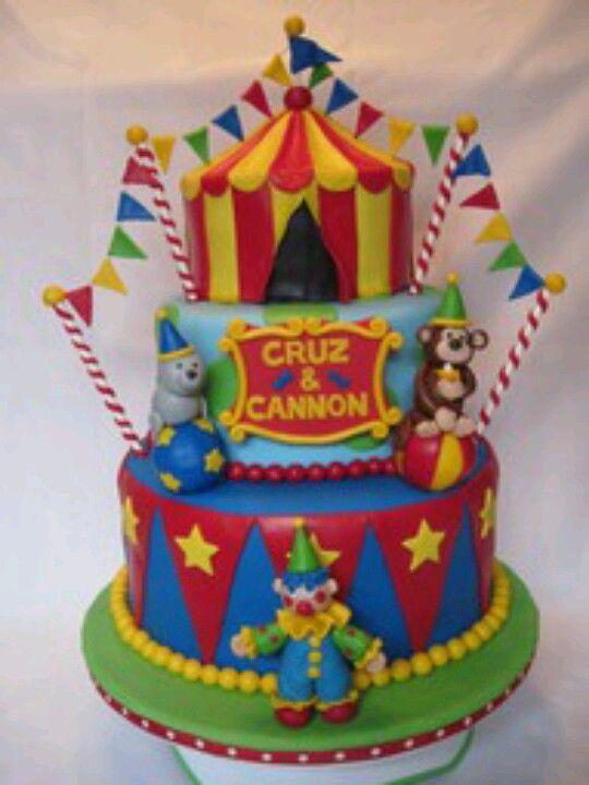 Circus Cake Cakes Pinterest Circus Cakes Carnival Birthday