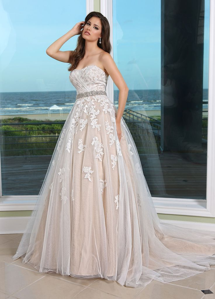 d76ce6e643a champagne wedding dress with ivory lace overlay - Google Search ...