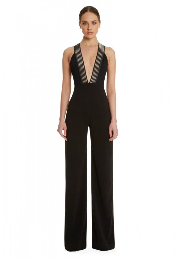 6bf147994c5 Level Deep Plunge Jumpsuit - Black