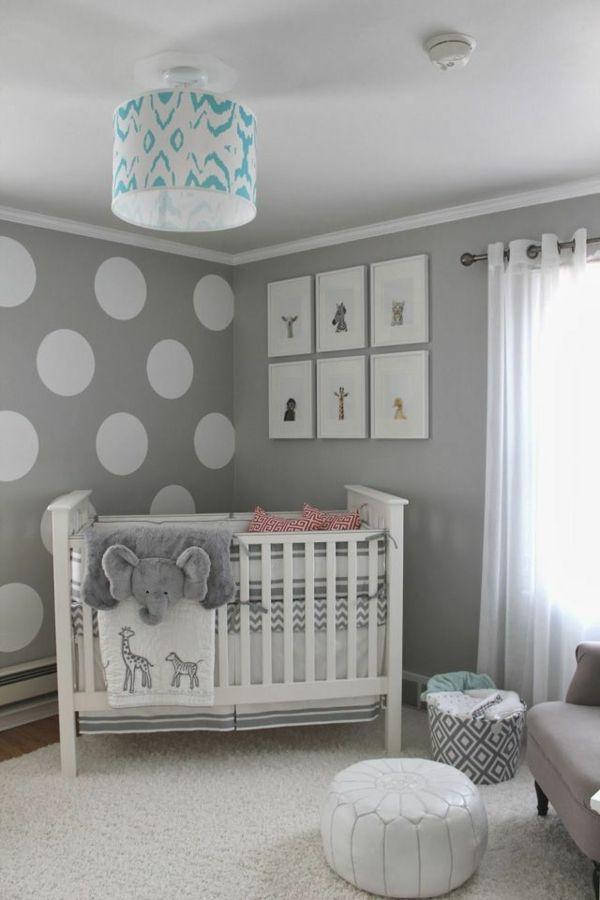 Graue Wand Mit Weissen Kreisen
