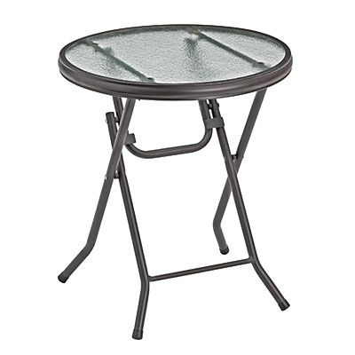 16 Round Glass Top Folding Table At Big Lots Round Folding Table Folding Table Glass Top