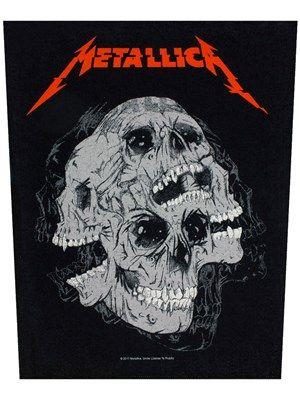 Metallica Skulls Backpatch Metallica Albums Metallica Art Metallica Album Covers