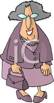 Grandma Holding A Purse And Smiling Clipart Image Cartoon Clip Art Old Women Royalty Free Clipart