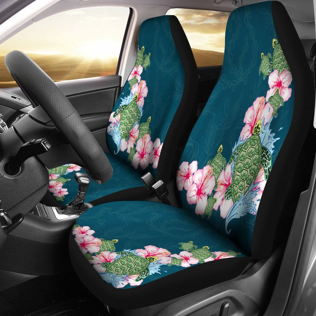 Astonishing Hibiscus Turtle Hawaiian Car Seat Covers K5 Turtle Car Uwap Interior Chair Design Uwaporg
