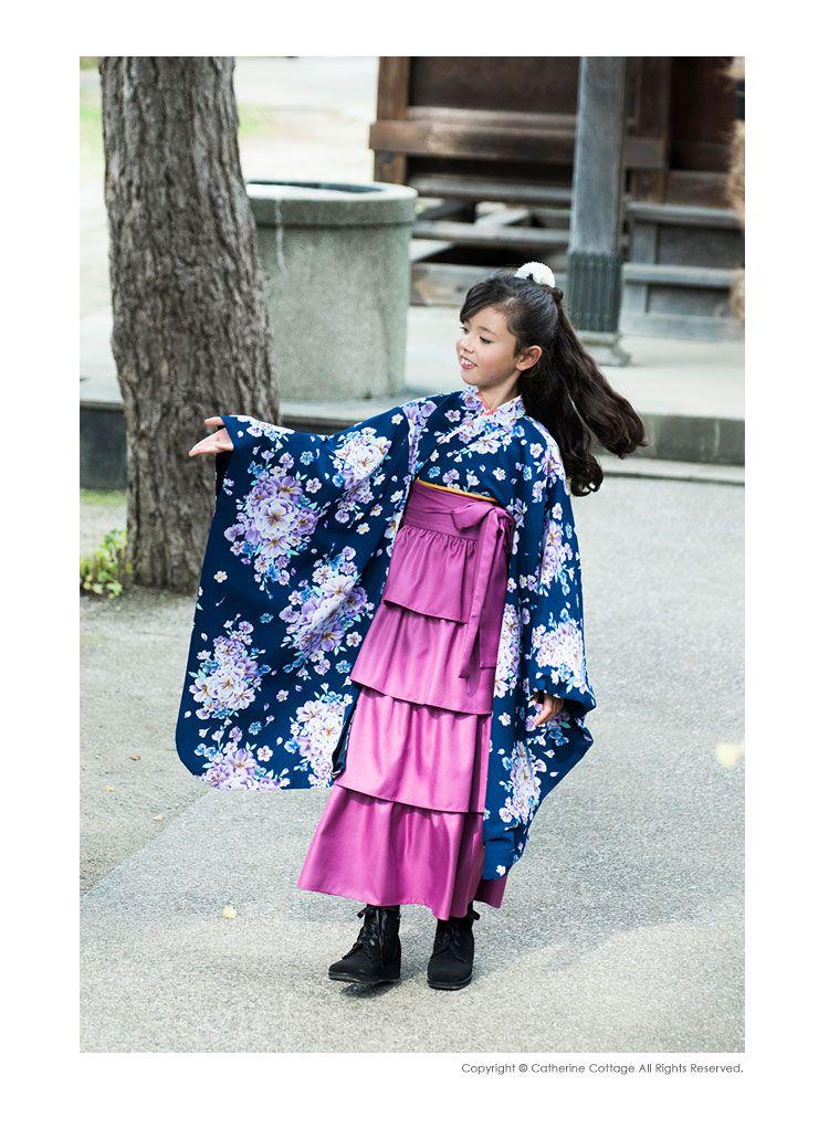8029ed2d2ff01 女の子 卒園式 卒業式 4段ティアードフリルの袴スカート 単品 110 120 ...